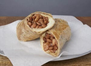 Image of a bean and cheese burrito