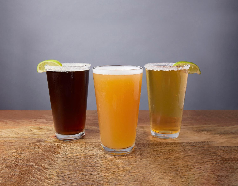 Image of three draft beers