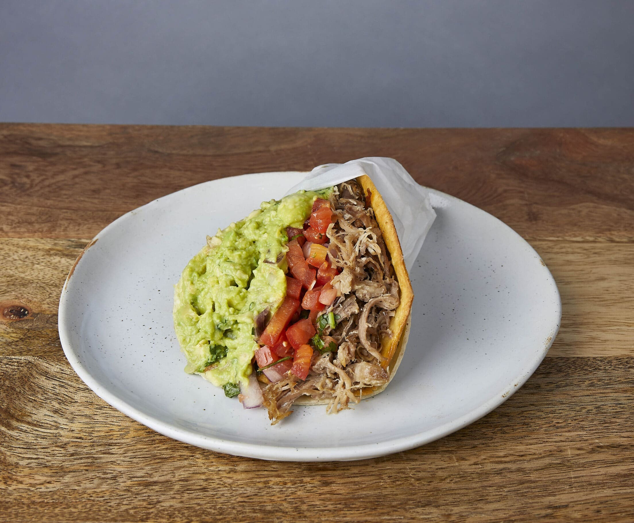 Image of a carnitas nick's way taco